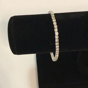 Silver & Rhinestones 💎 Stretchy Layering Bracelet